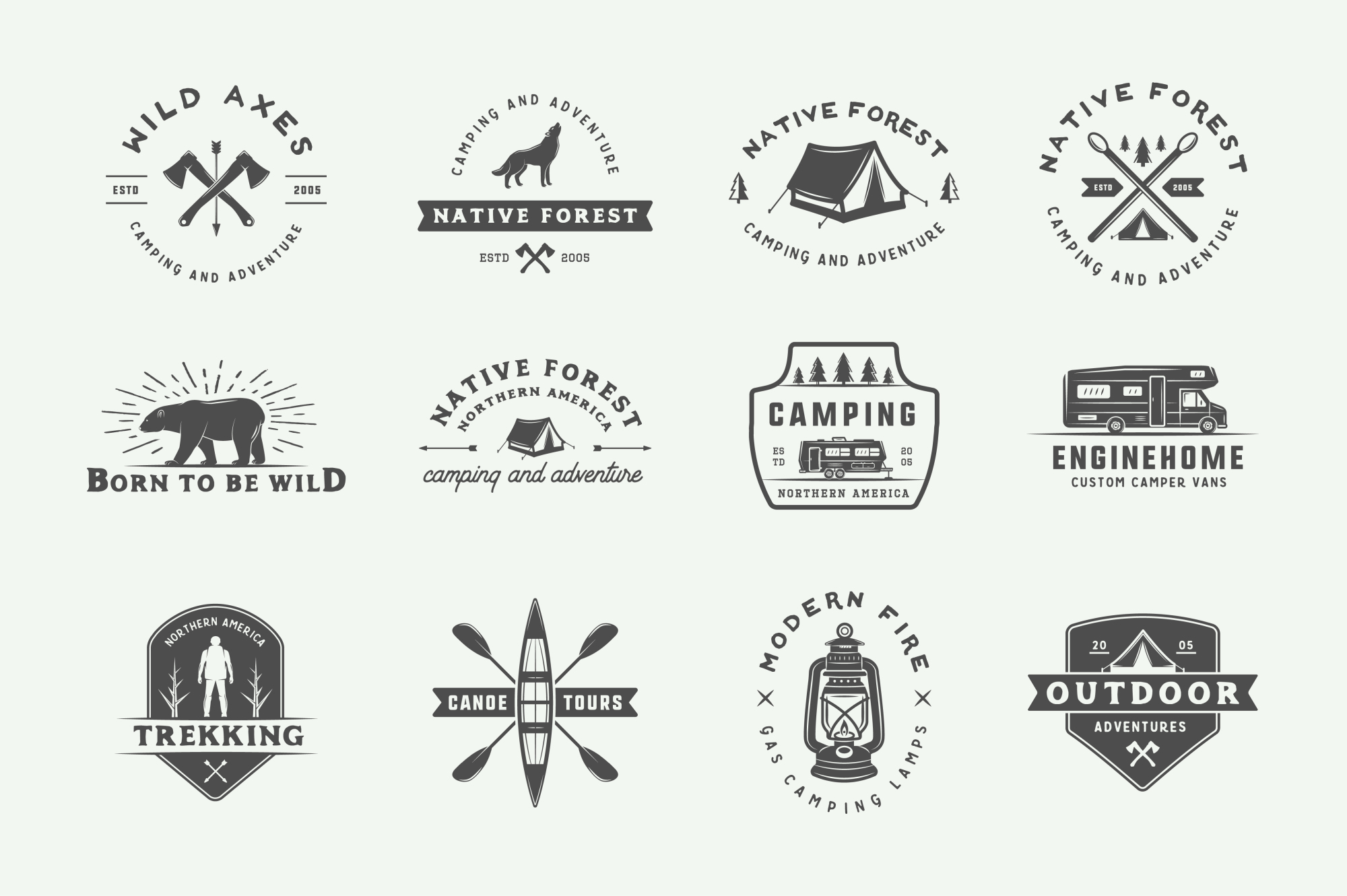 Camping and Adventure Emblems example image 3