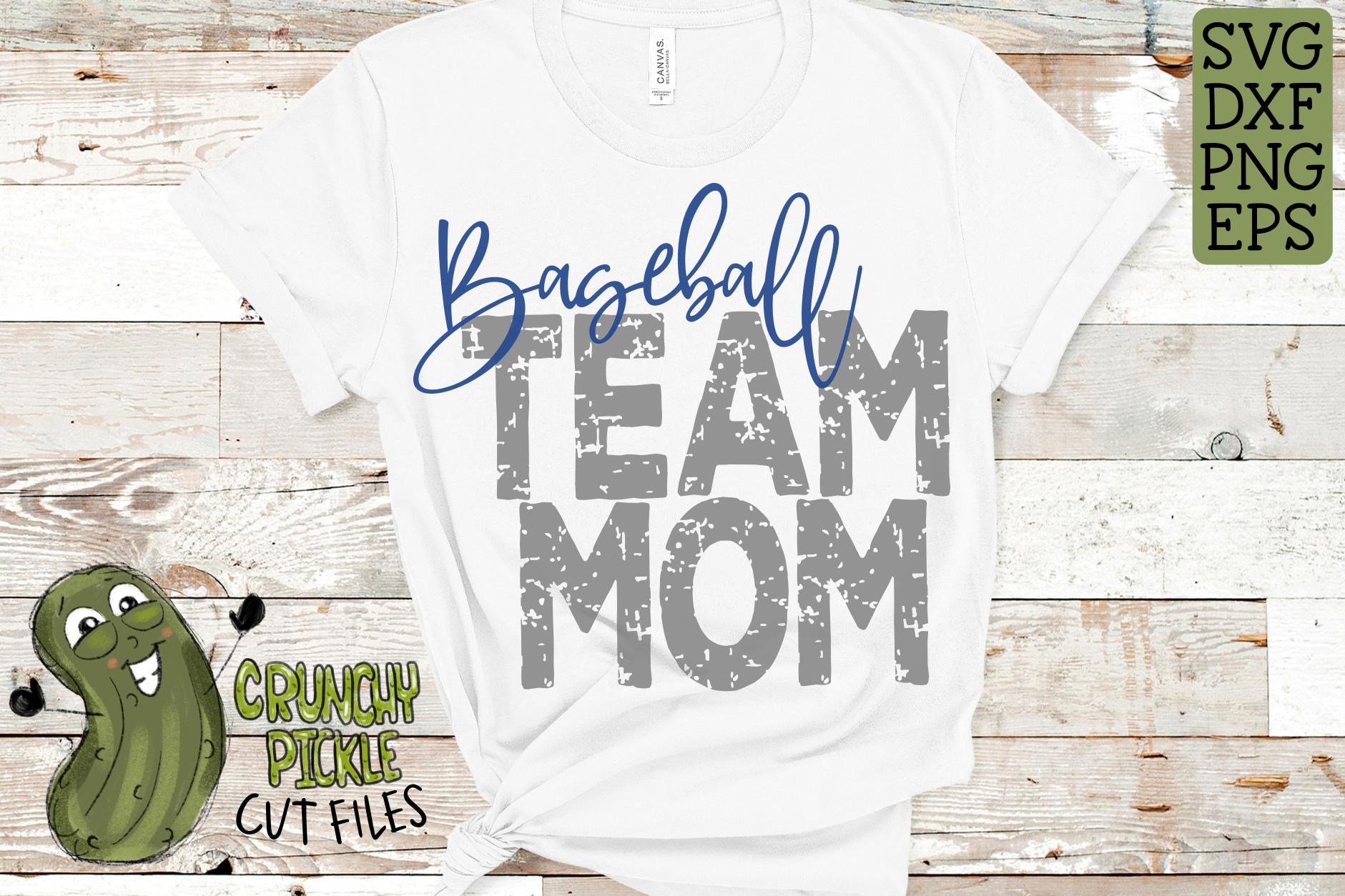 Baseball Mom & Bonus Team Mom Sports SVG Cut File example image 3