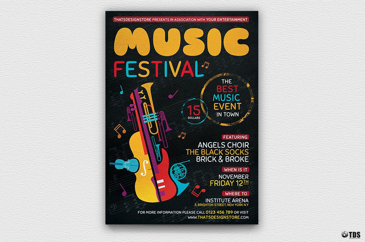 Music Festival Flyer Template V10 example image 2