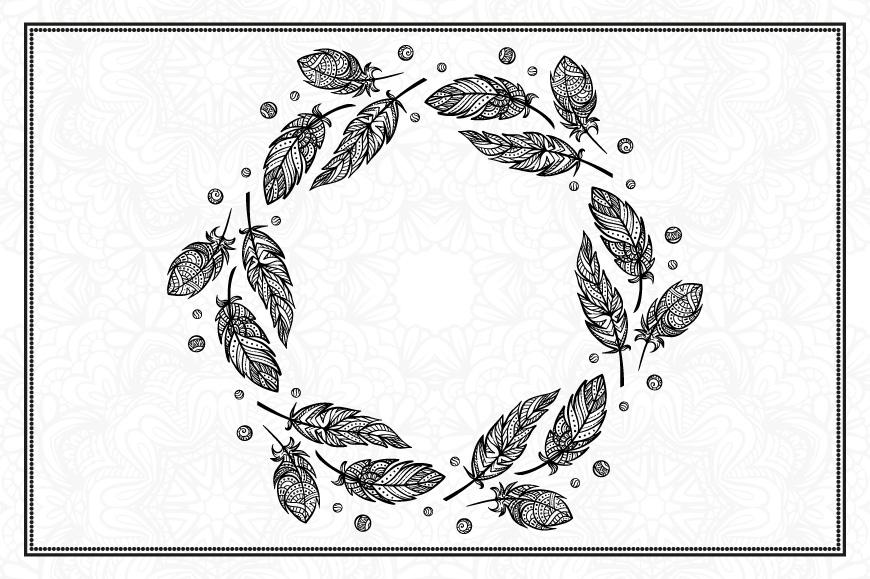 Boho feathers set example image 3