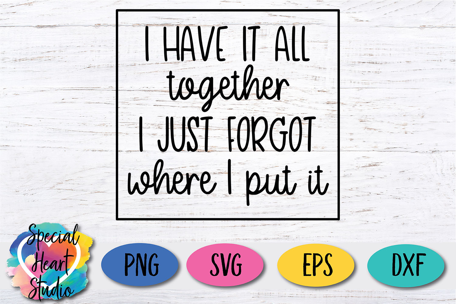 I have it all together - A funny SVG example image 3