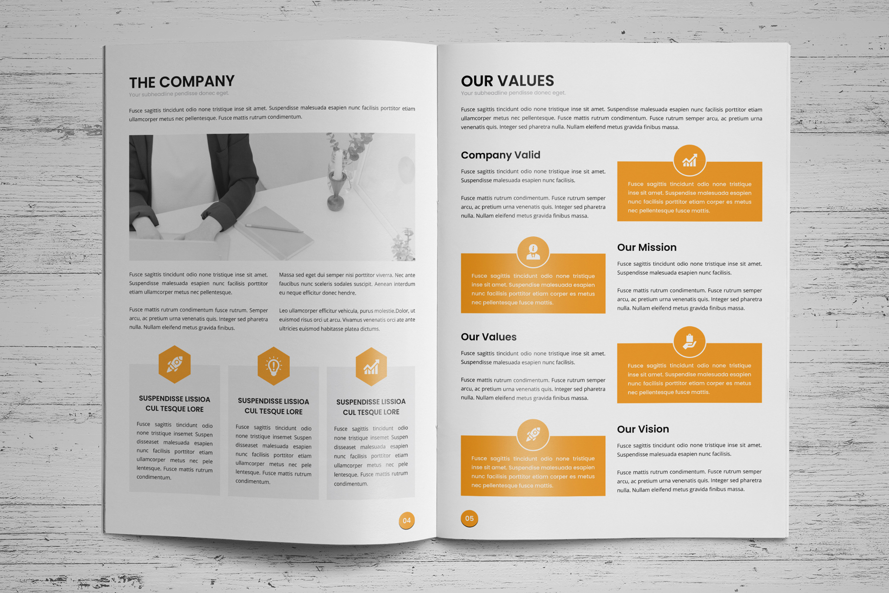 Annual Report Design v6 example image 3