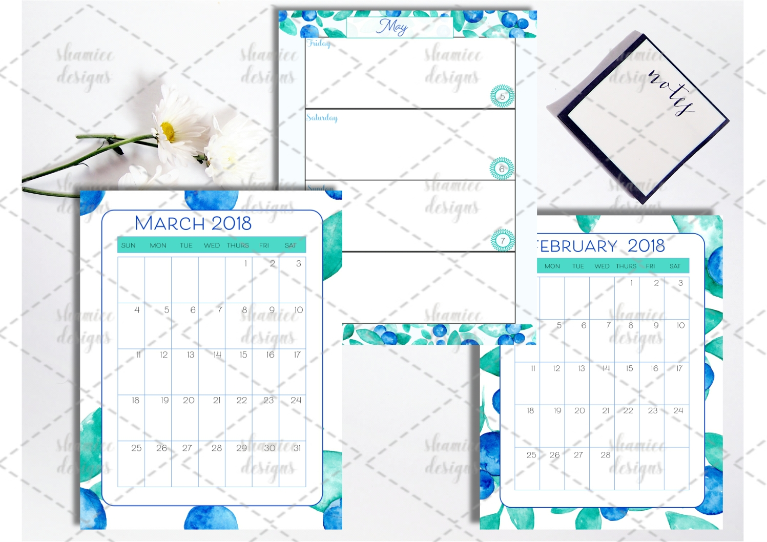 2018 Blueberry Planner example image 2