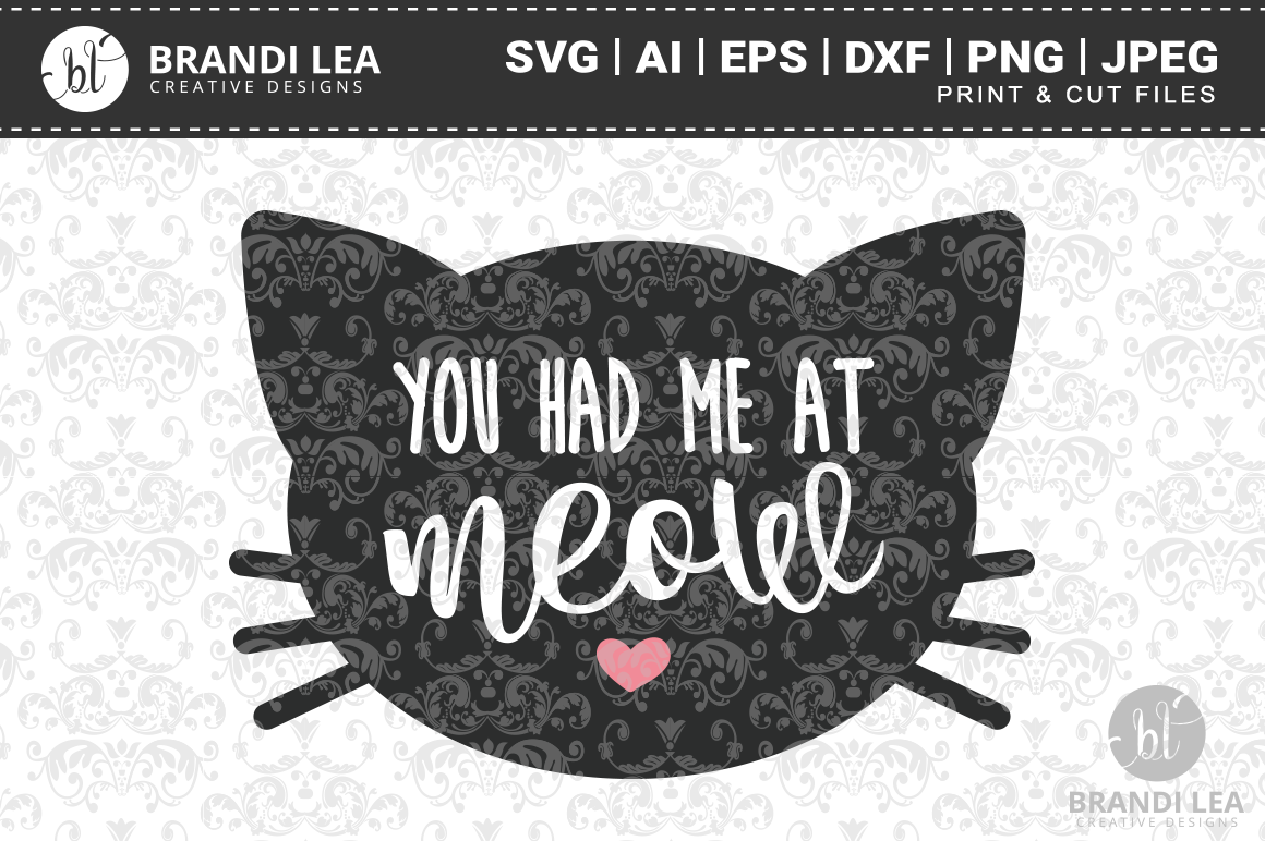 You Had Me at Meow Cutting Files example image 1