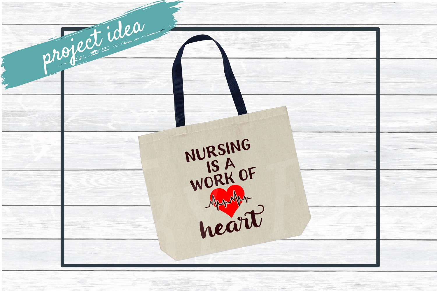 Nursing is a Work of Heart SVG Cut File for Crafters example image 2