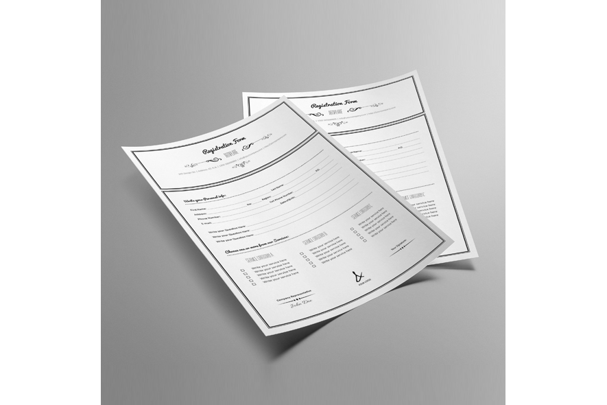 Registration Form Template v10 example image 6