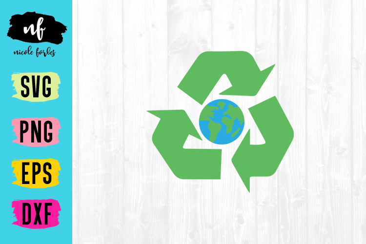 Recycle Earth SVG Cut File example image 1