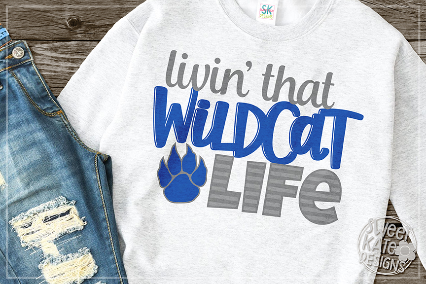 Livin' That Wildcat Life SVG DXF EPS PNG JPG example image 1