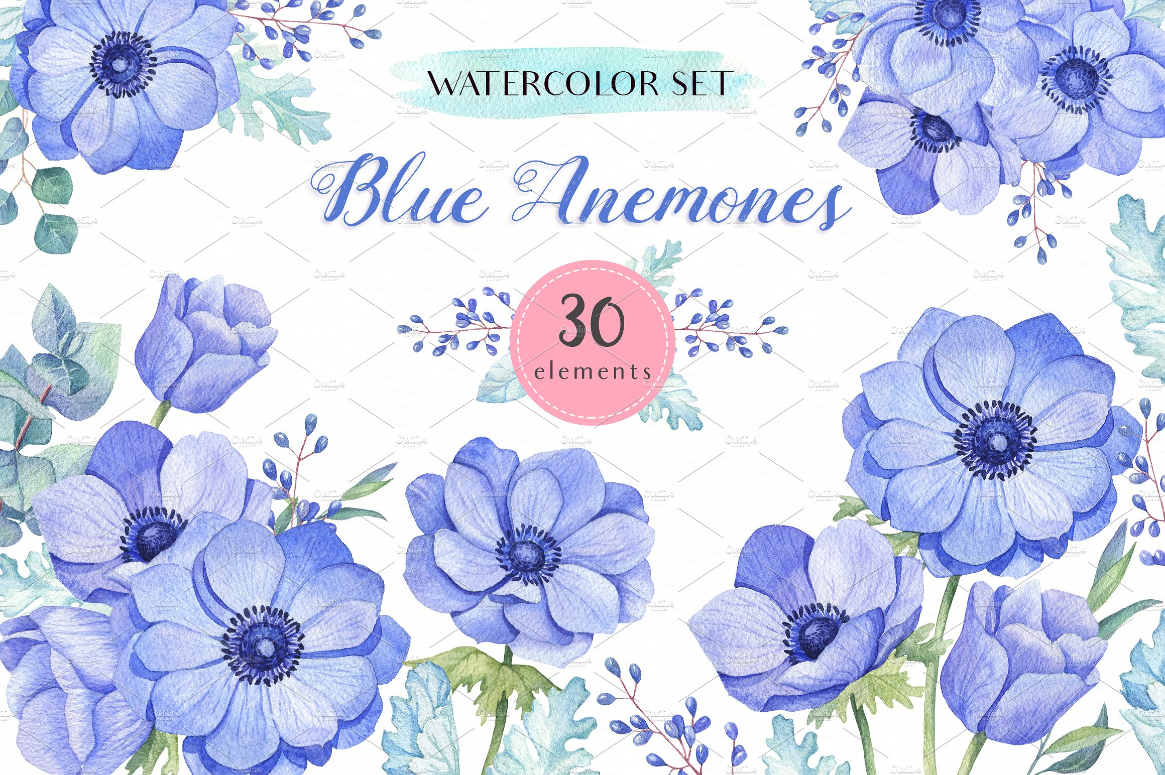 -40% OFF - Blue Anemones example image 1