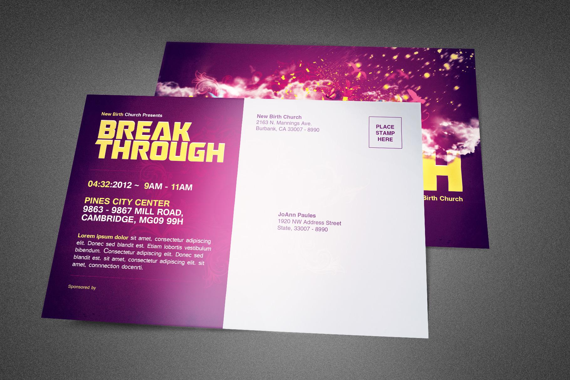Break Through Church Postcard example image 2