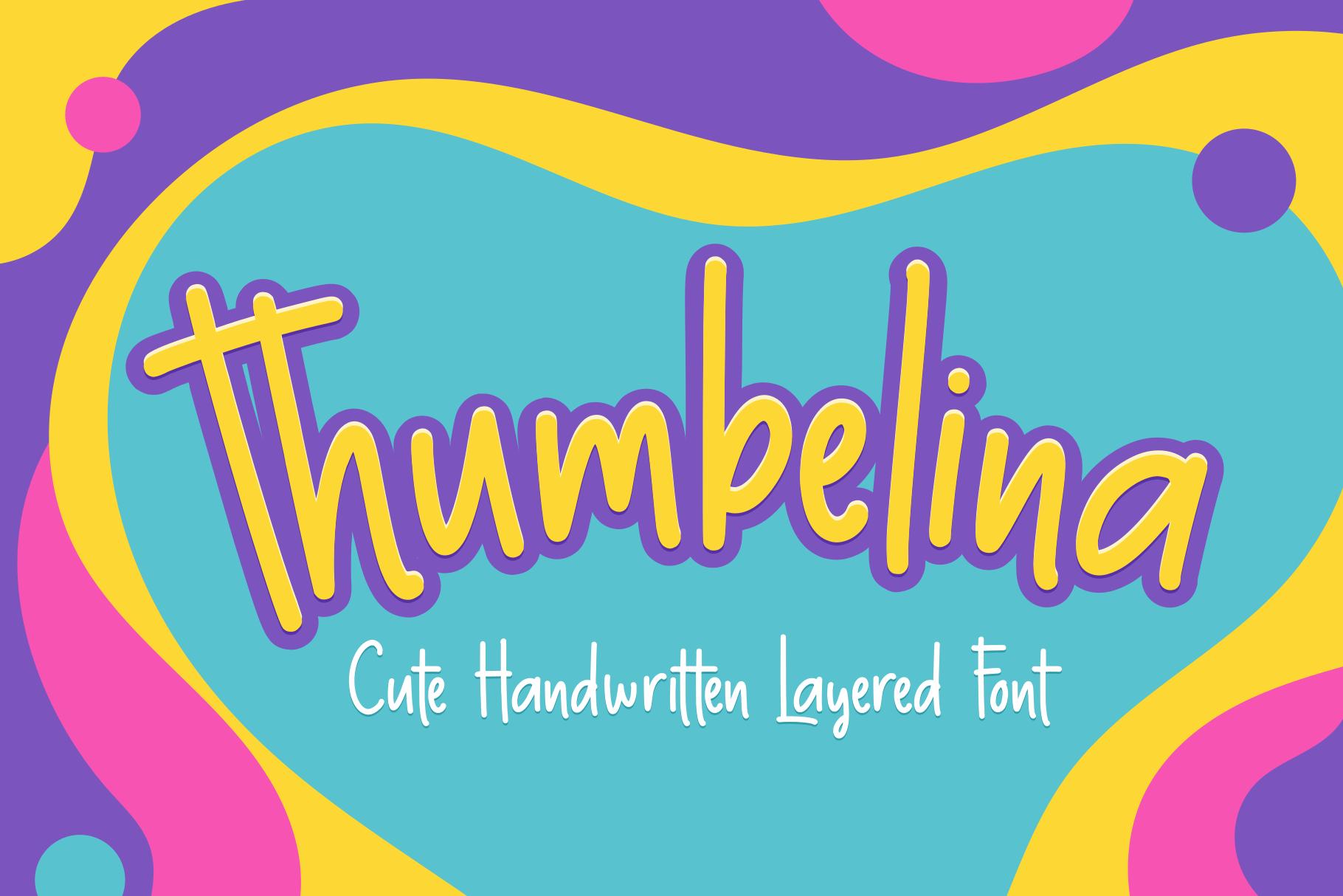 Thumbelina - Cute Layered Font example image 1