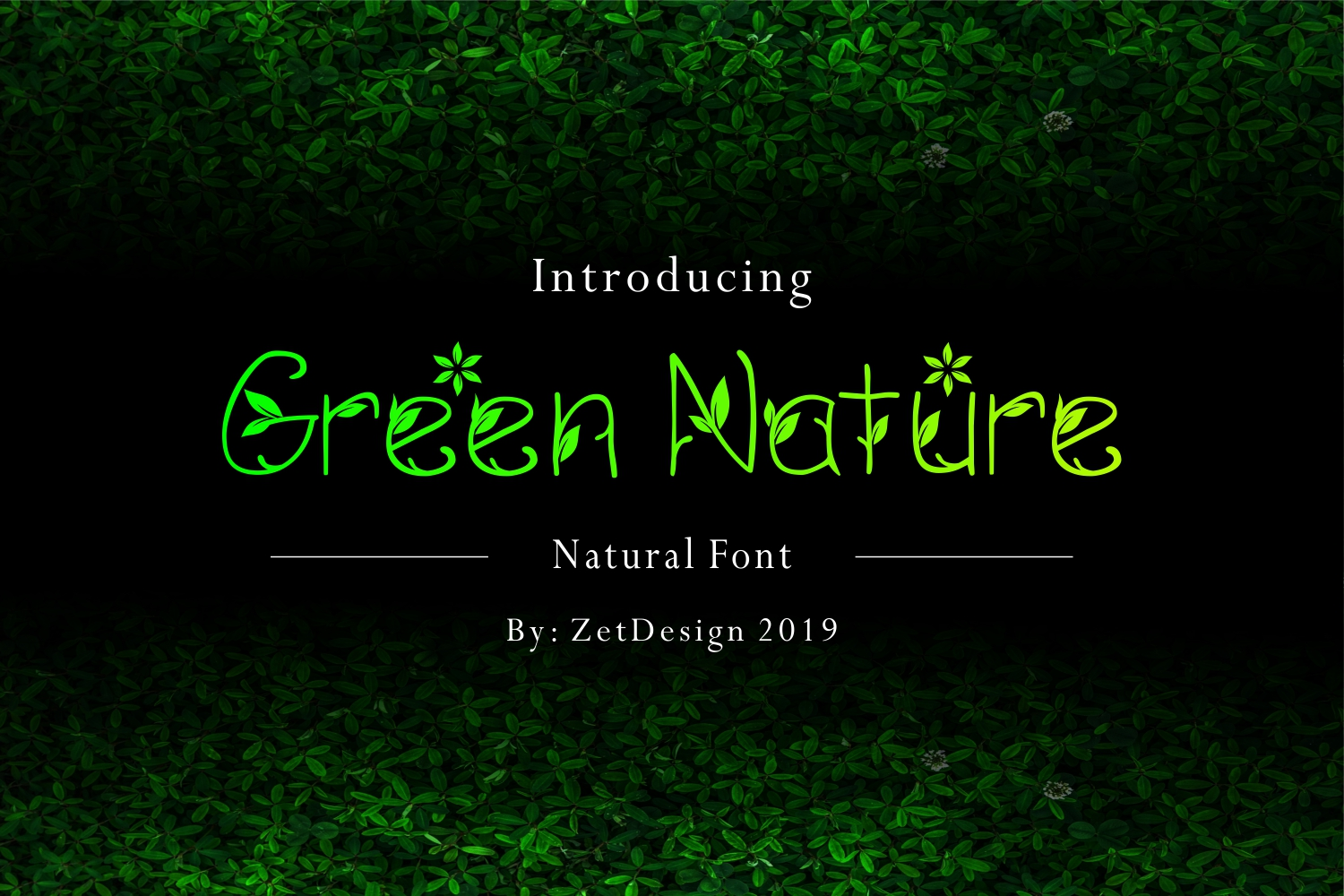 GREEN NATURE FONT example image 1