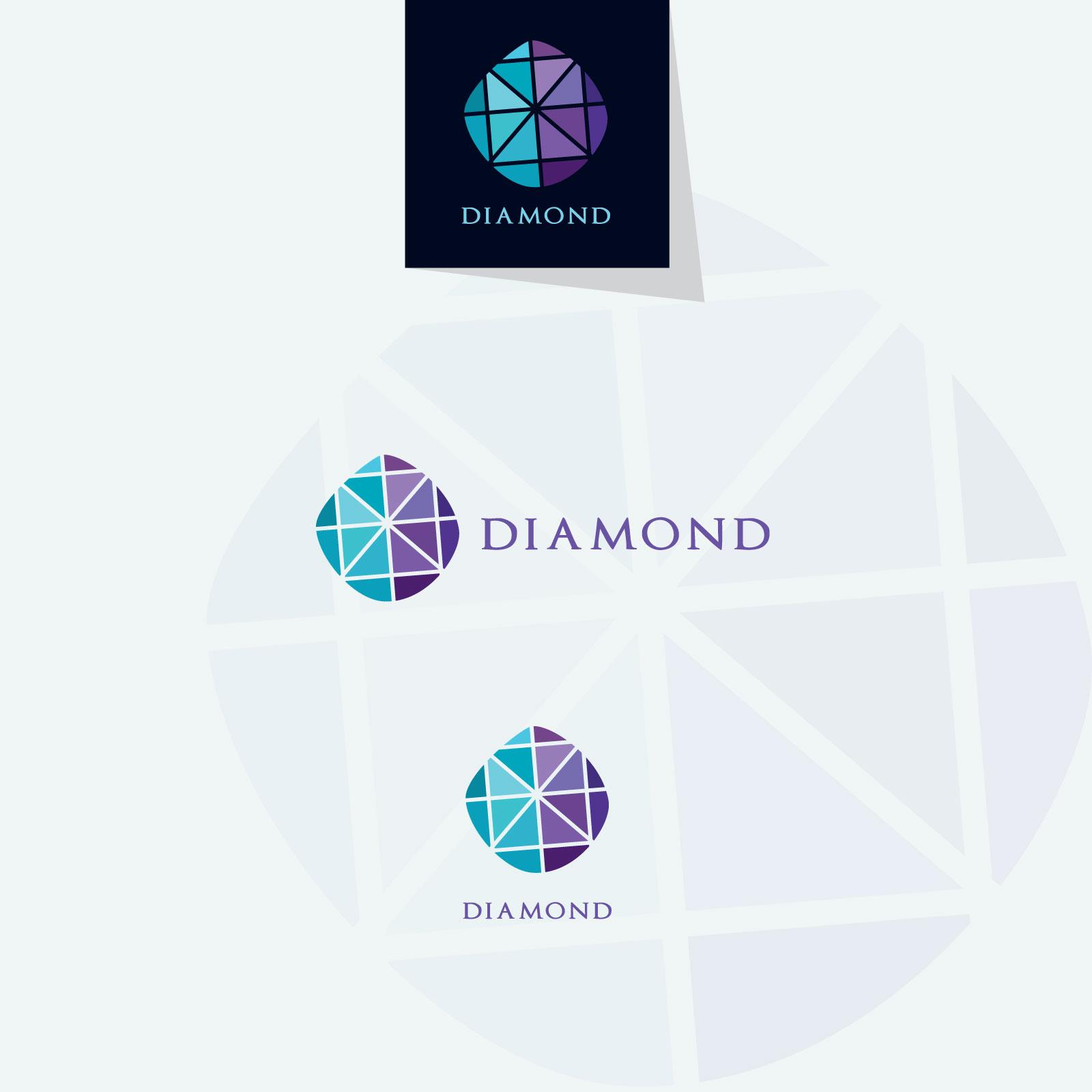 Diamond vector logos collection example image 6