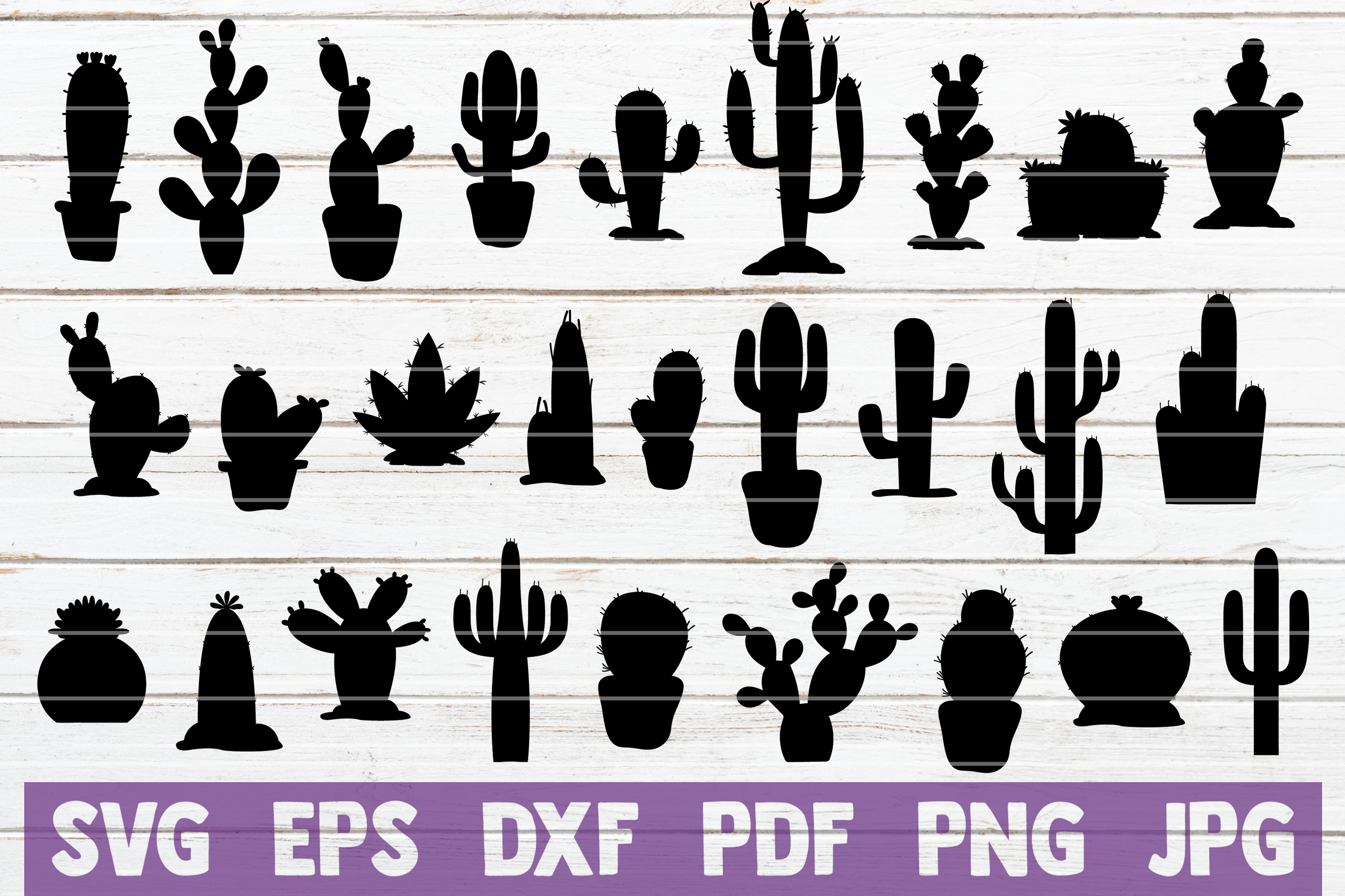 Cactus SVG Cut Files   commercial use example image 1