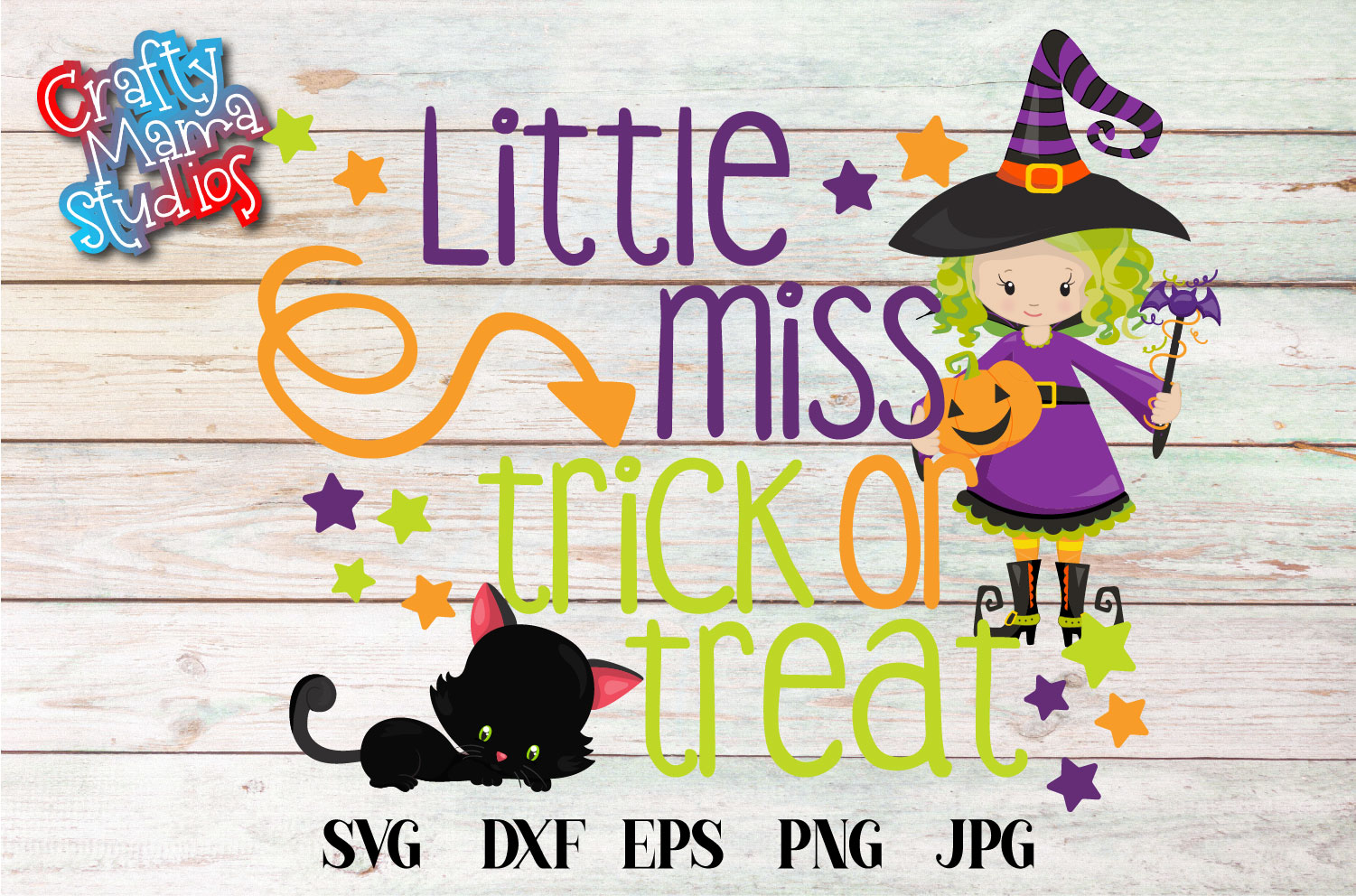 Little Miss Trick Or Treat SVG Sublimation, Halloween SVG example image 2