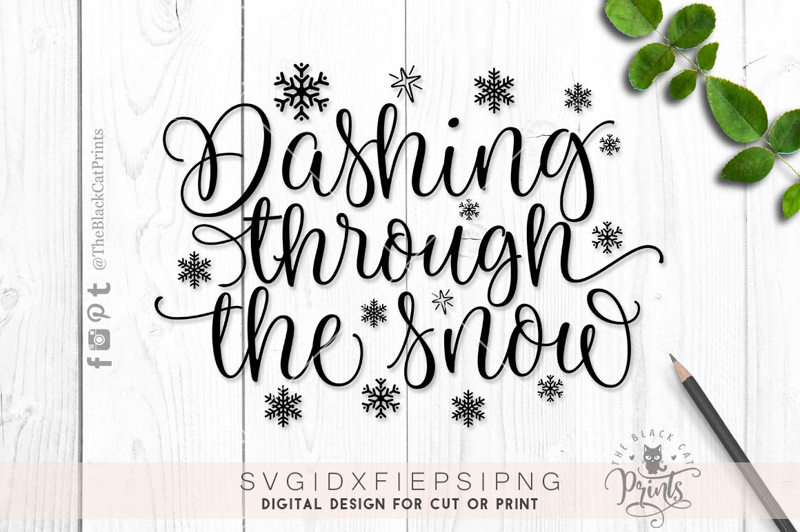 Dashing through the snow SVG DXF PNG example image 5