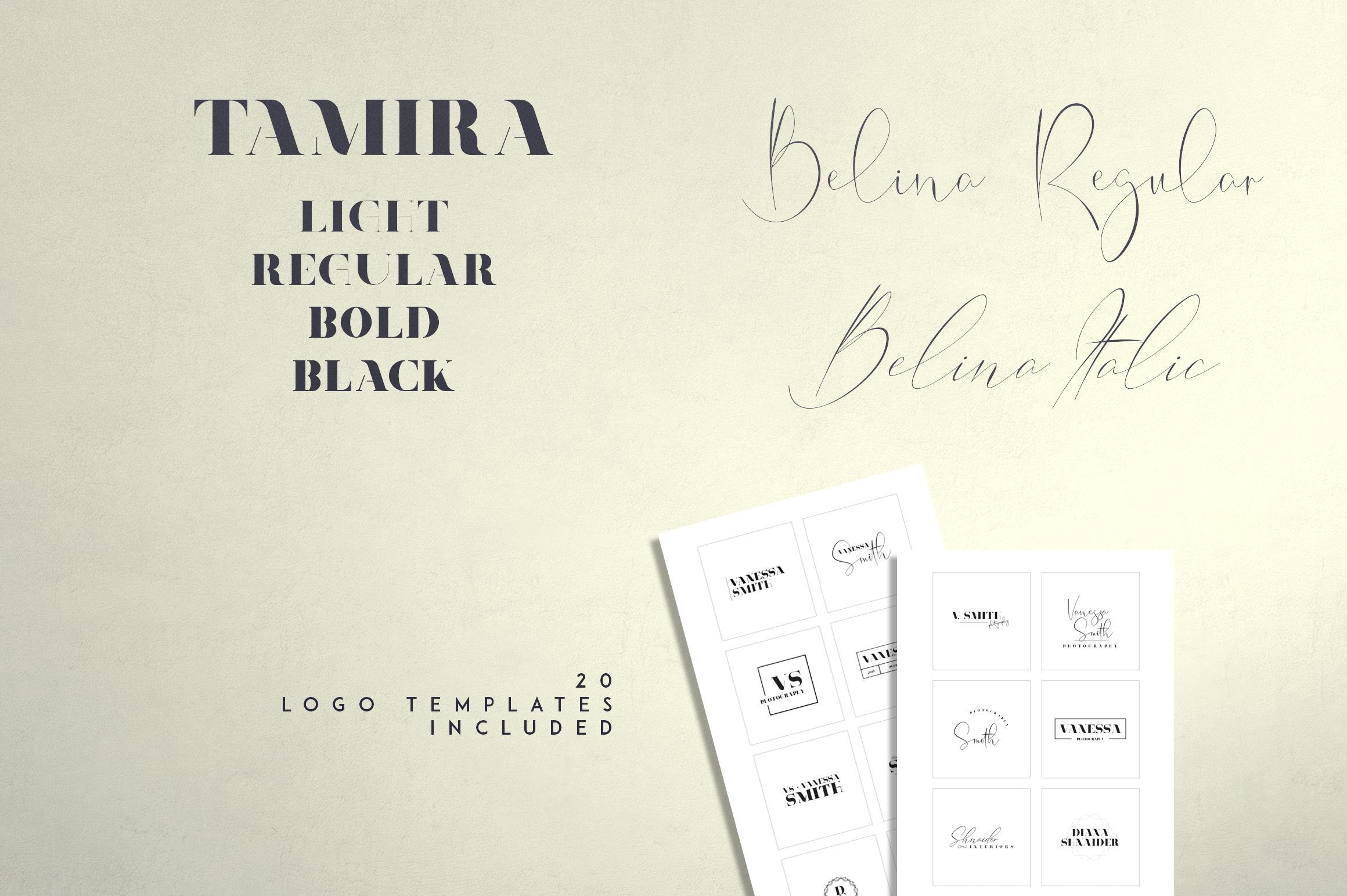 Belinda Tamira - Font duo 20 Logos example image 2