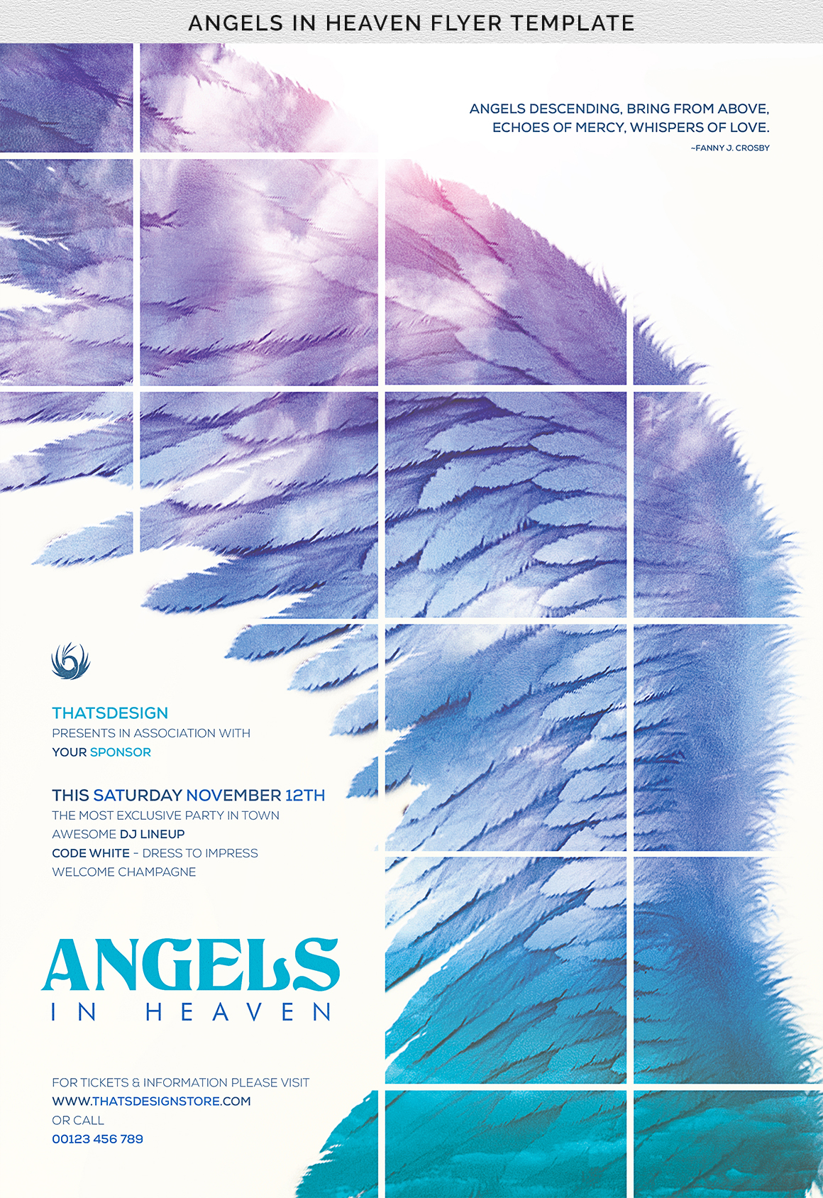 Angels in Heaven Flyer Template example image 7