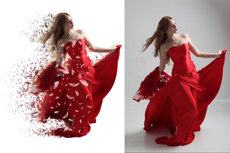 Splatter Dispersion Photoshop Action example image 5