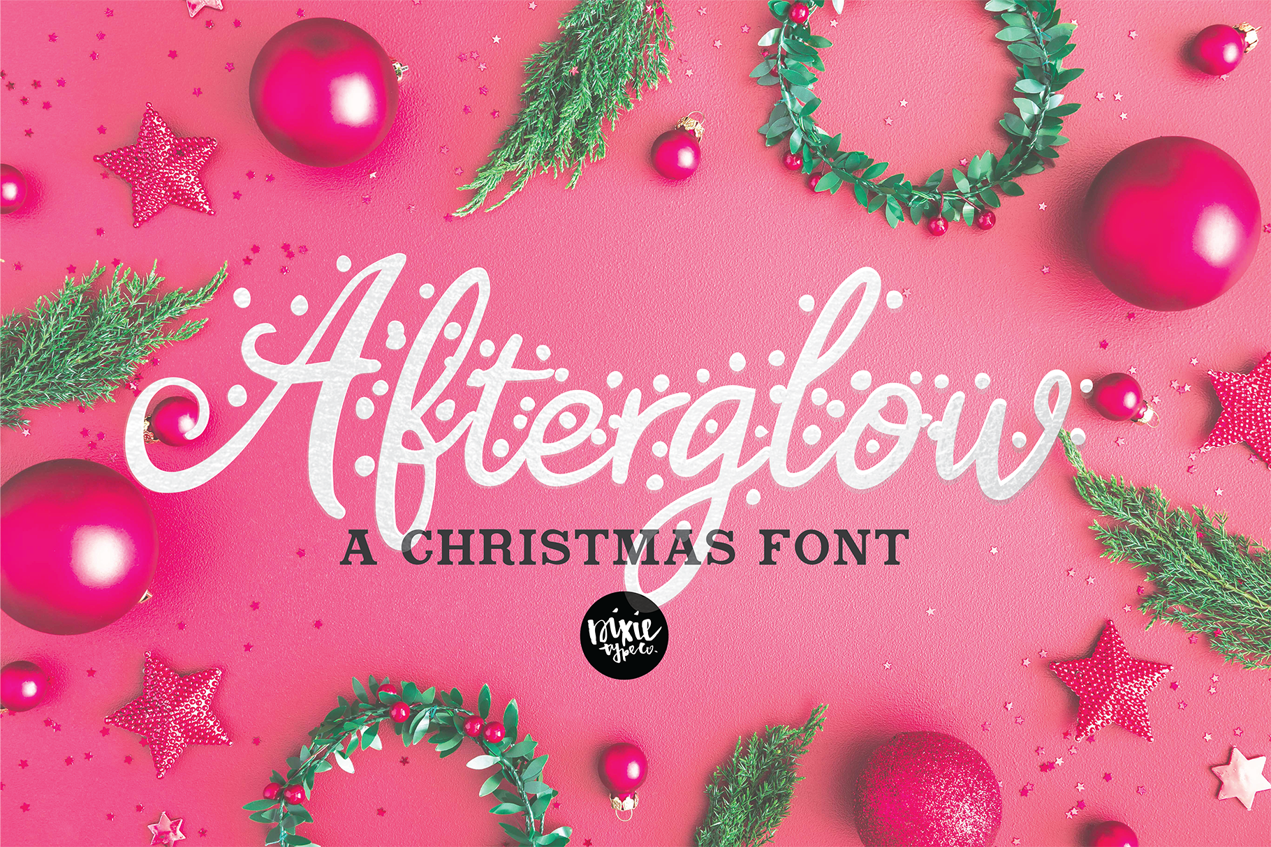 CHRISTMAS FONT BUNDLE - 4 Hand Lettered Christmas Fonts example image 4