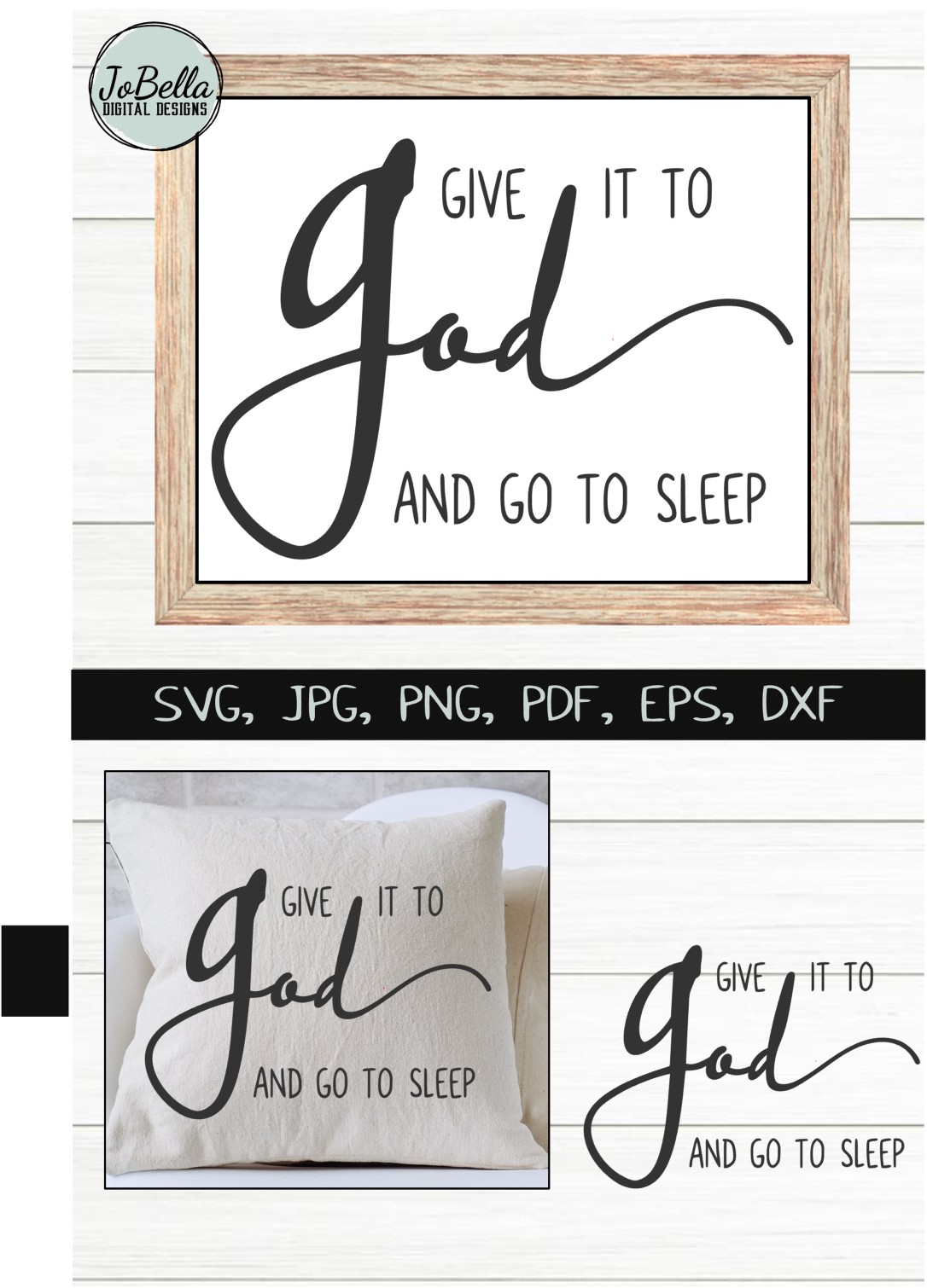 Give It To God SVG, Sublimation & Printable Christian Design example image 4