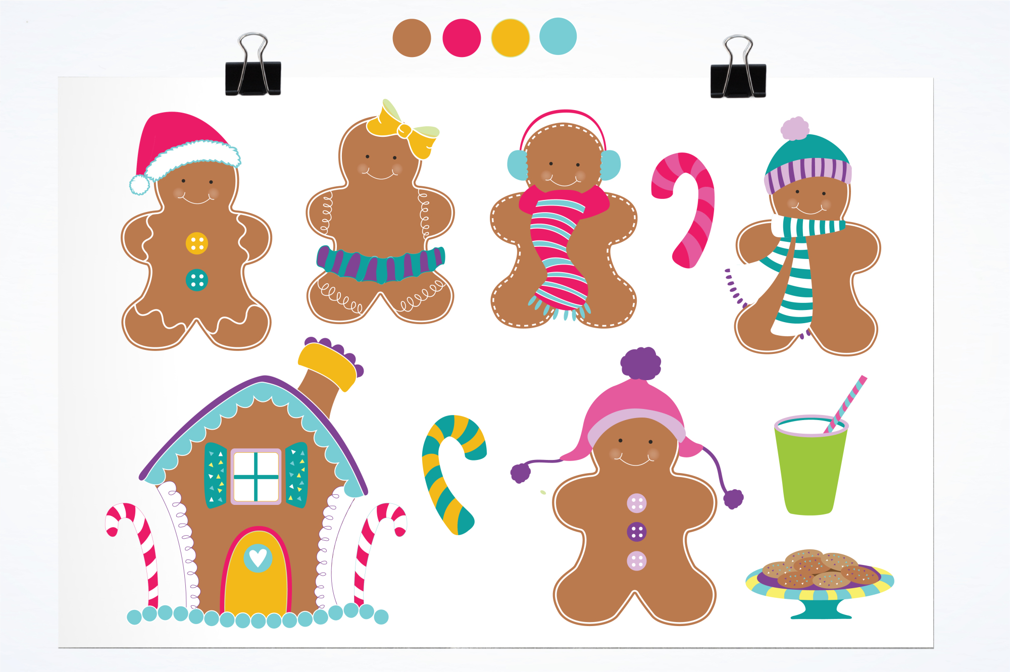 Gingerbread Colorful graphics and illustrations example image 2
