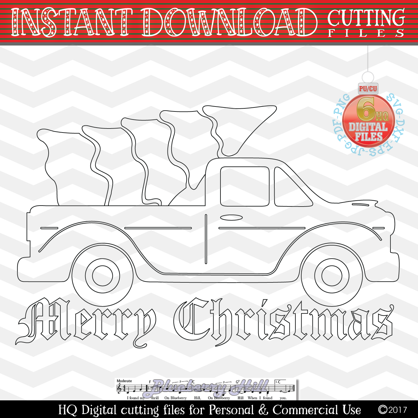 Christmas truck - Christmas truck with tree svg - Christmas example image 3