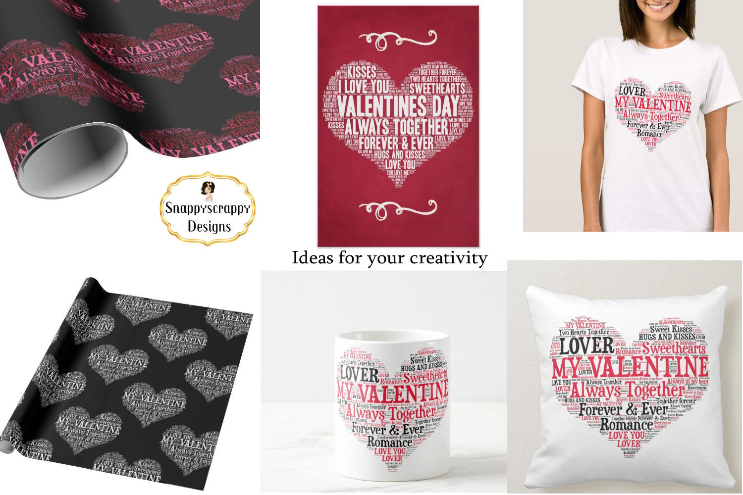 Valentine Love Hearts - Wordart Shapes example image 8