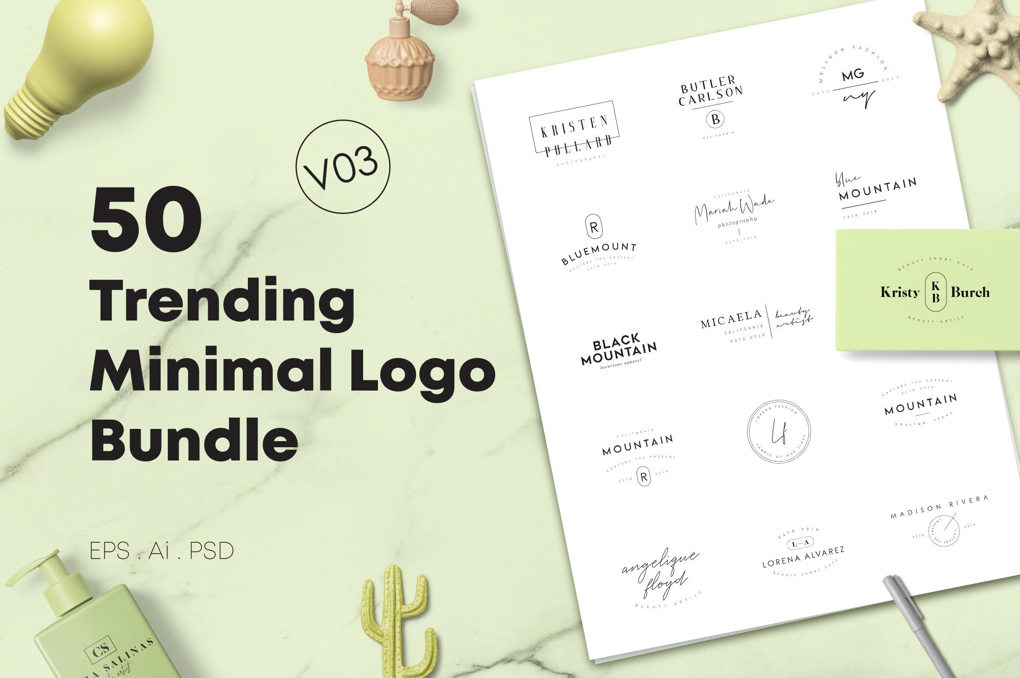 200 Trending Minimal Logo Bundle example image 16