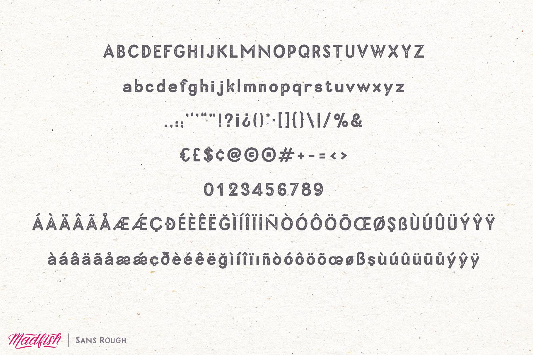 Madfish Font Family  Extras example image 13