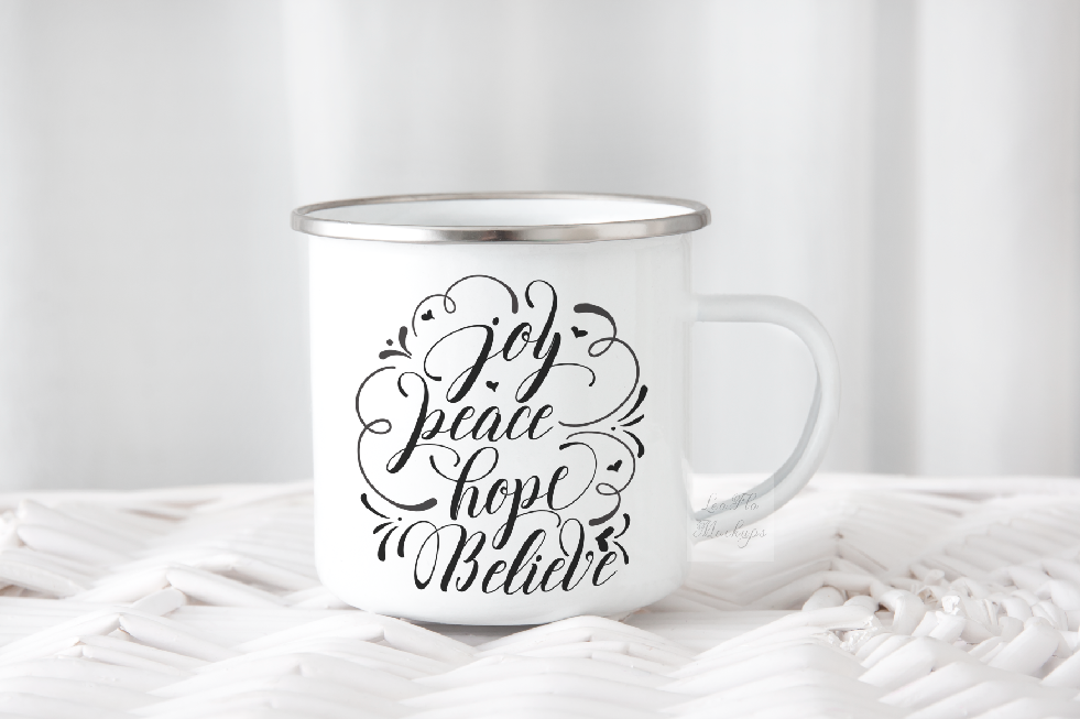 8x Enamel Bundle mockup mugs Camp tin mug rustic mockups example image 11