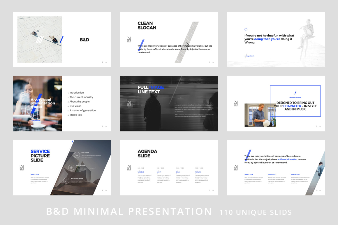 B&D-Powerpoint & Keynote Template example image 2