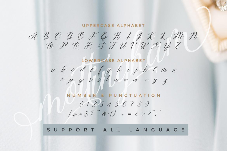 Mottingham Elegant Calligraphy Typeface example image 10
