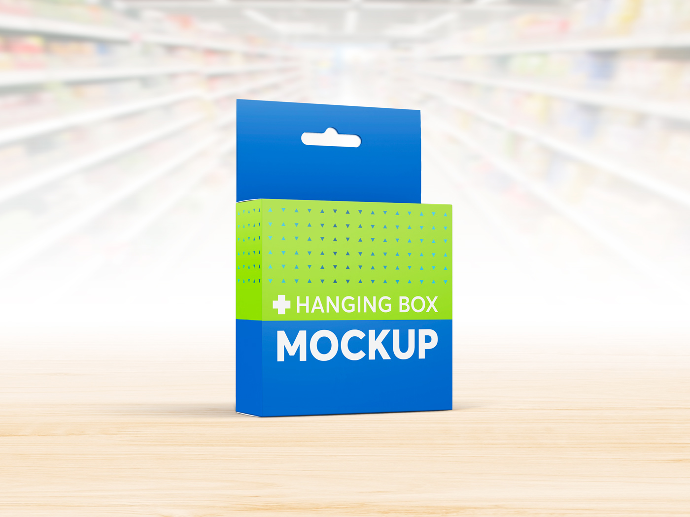 Flat Square Box with Hanger Mockup example image 5