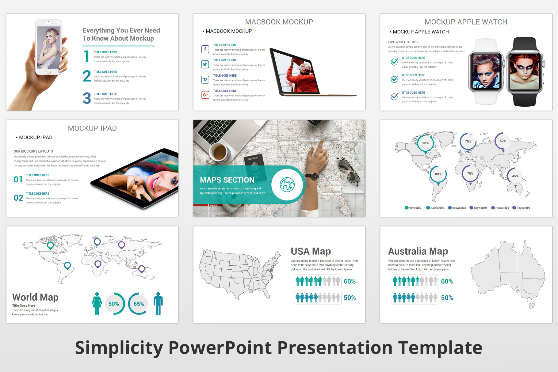 Simplicity multipurpose PowerPoint Presentation Template example image 19