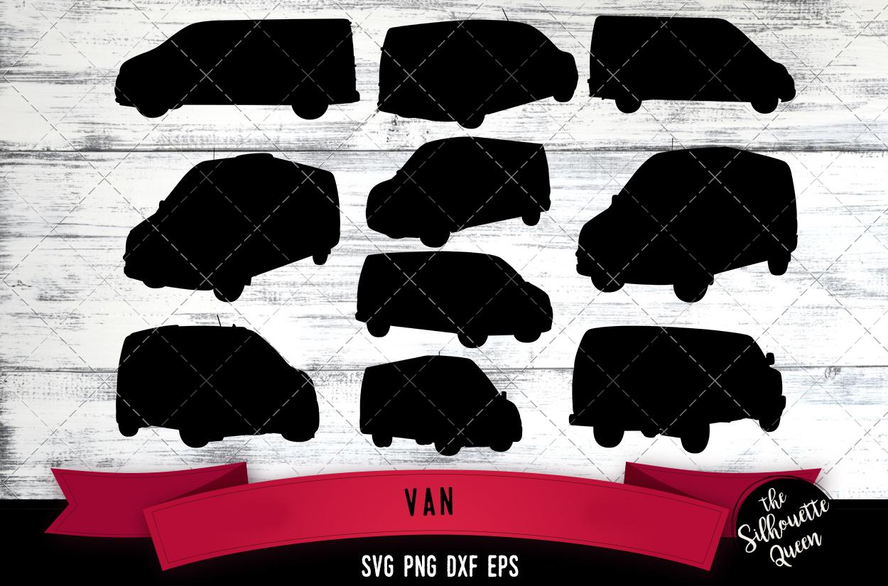 Van svg file, car svg cut file, silhouette studio example image 1