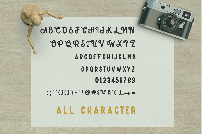 Amatir Font Extra Vintage illustration example image 6