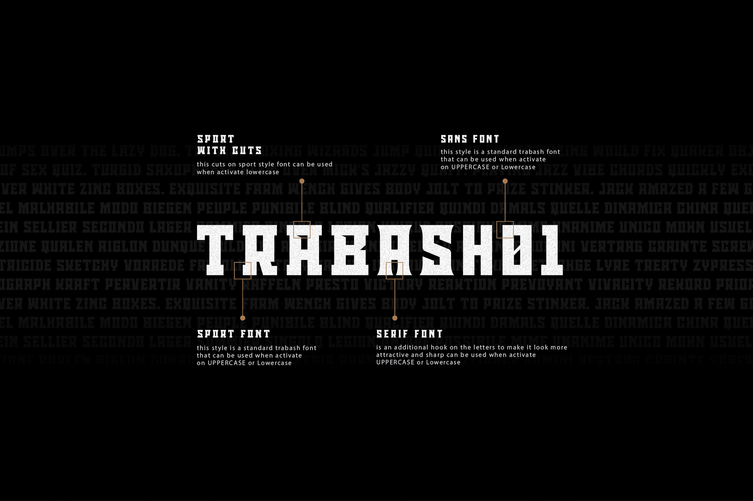 Trabash Font & Extras example image 2