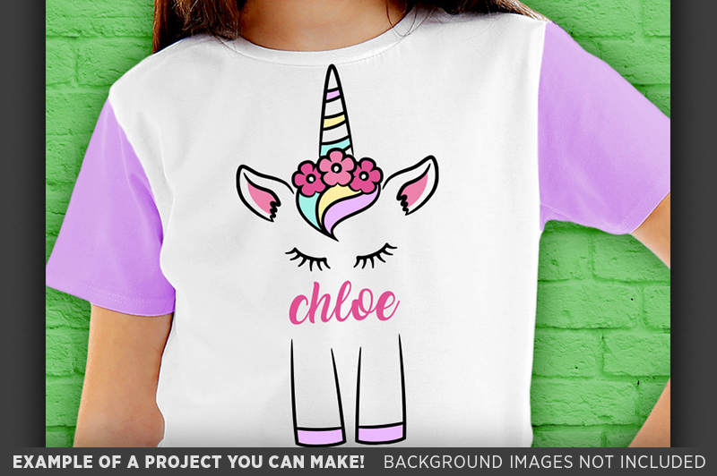 Cute UNICORN SVG - Cute Unicorn Shirt Design SVG File - 1002 example image 3