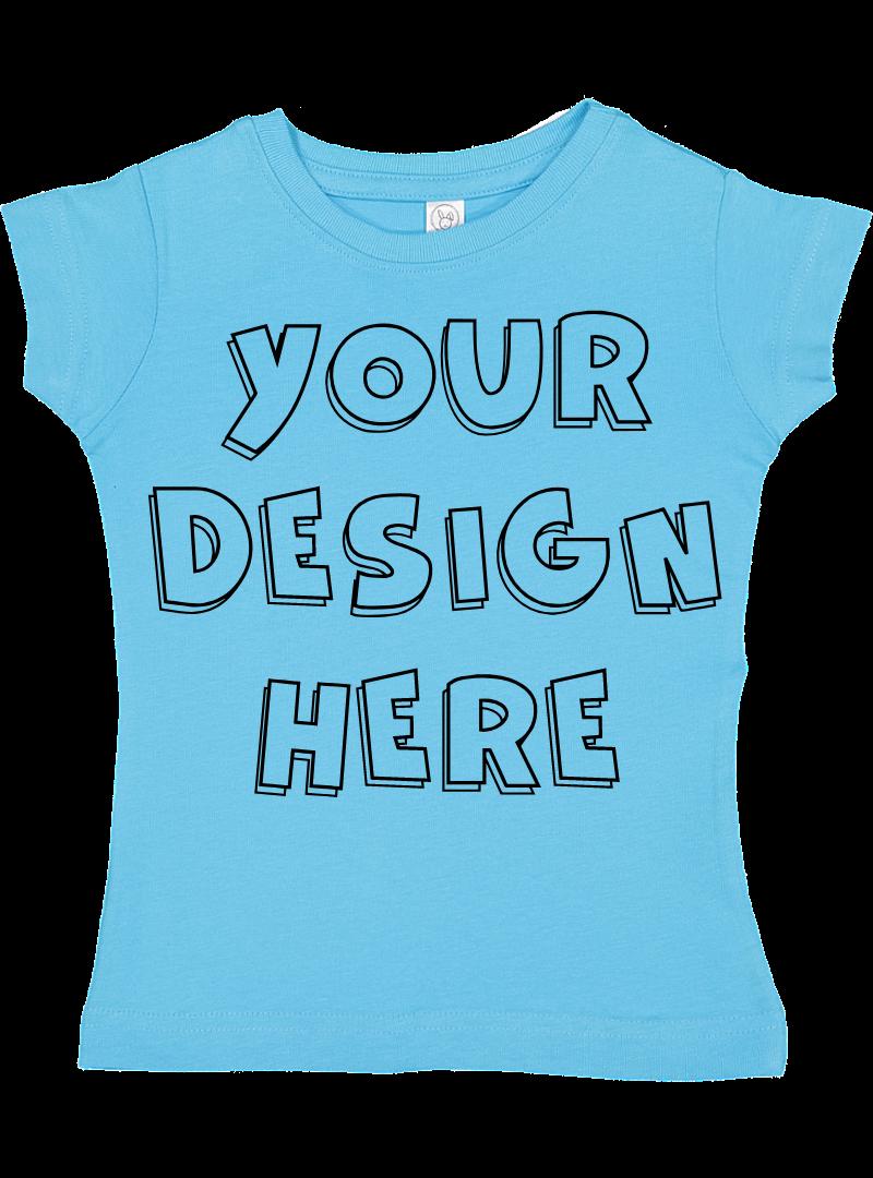 Toddler Gilrs Flat Jersey T Shirt Mockups - 17 example image 2
