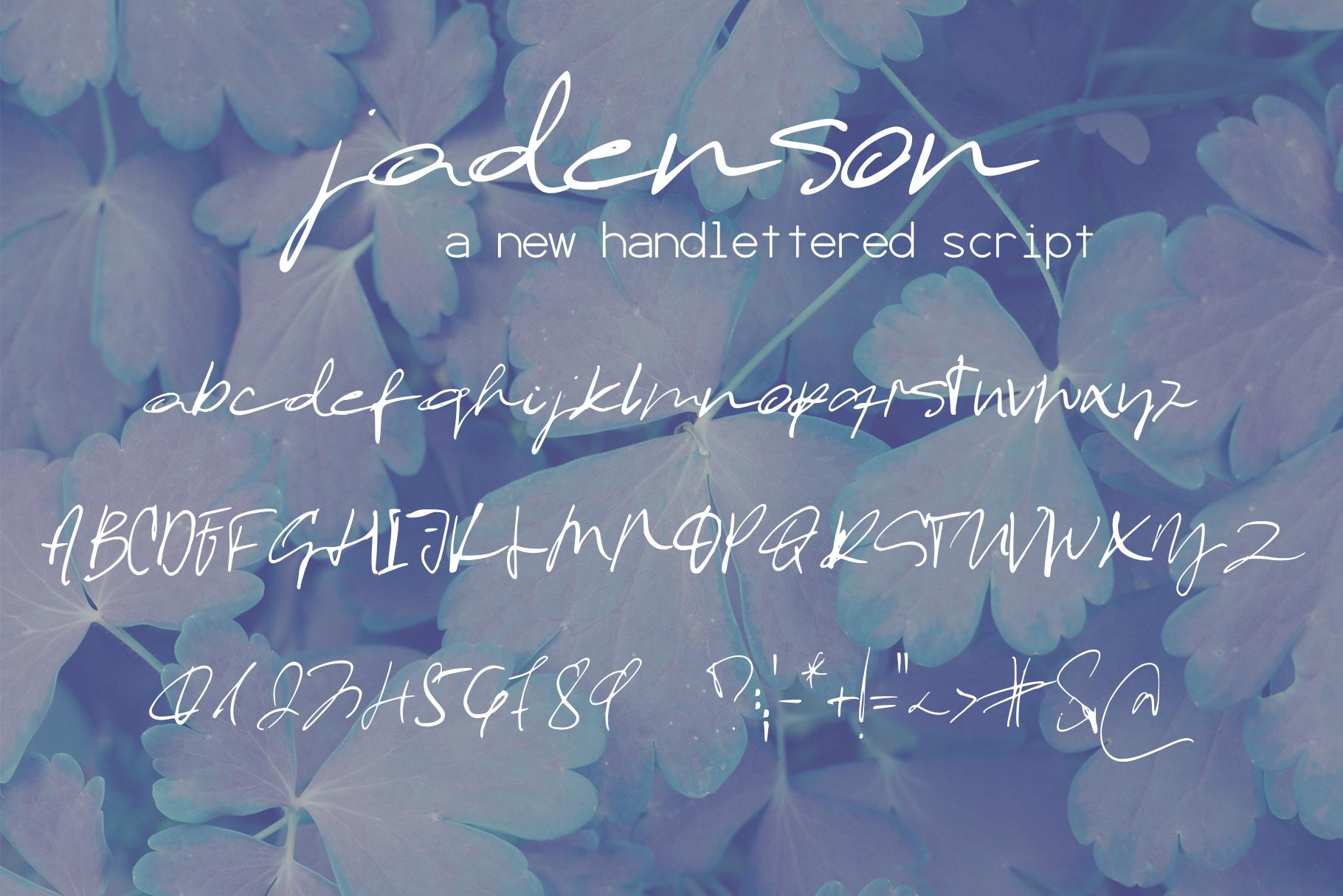 Jadenson Font example image 8
