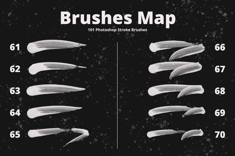 101 Photoshop Paint Stroke Brushes example image 9