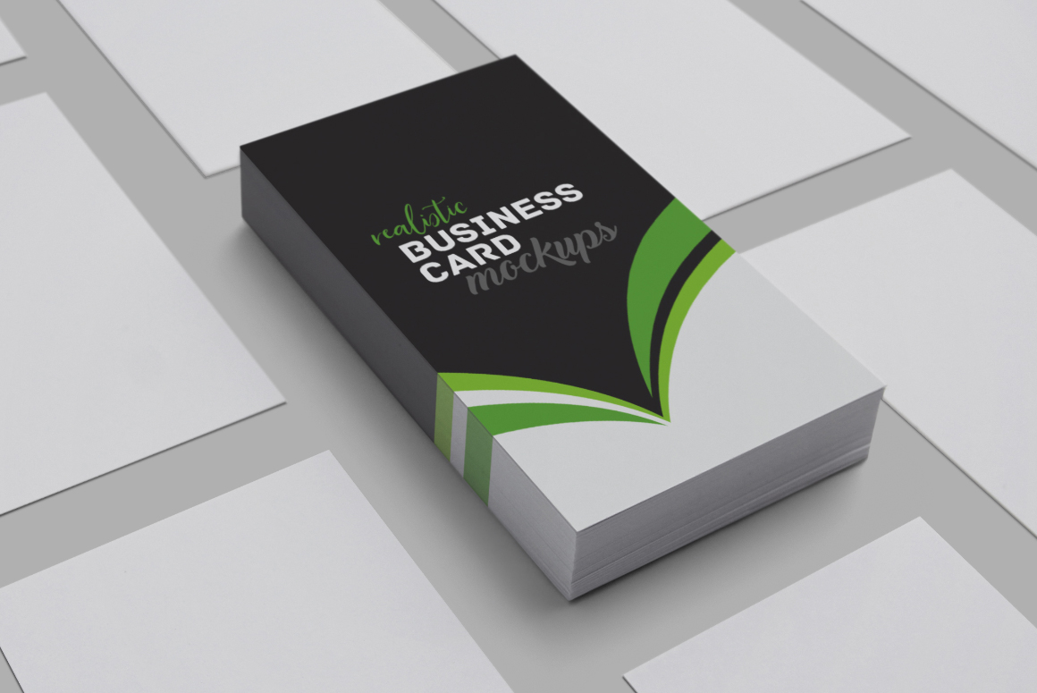 Realistic Business Card Mockups example image 1