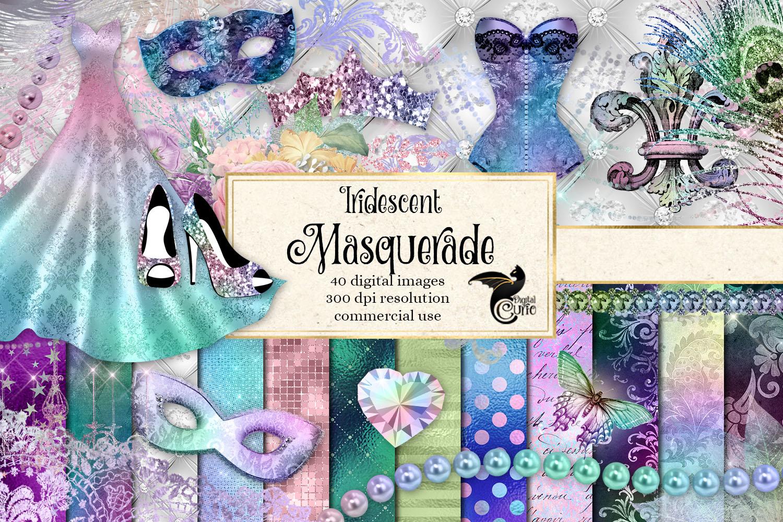 Iridescent Masquerade Digital Scrapbooking Kit example image 1