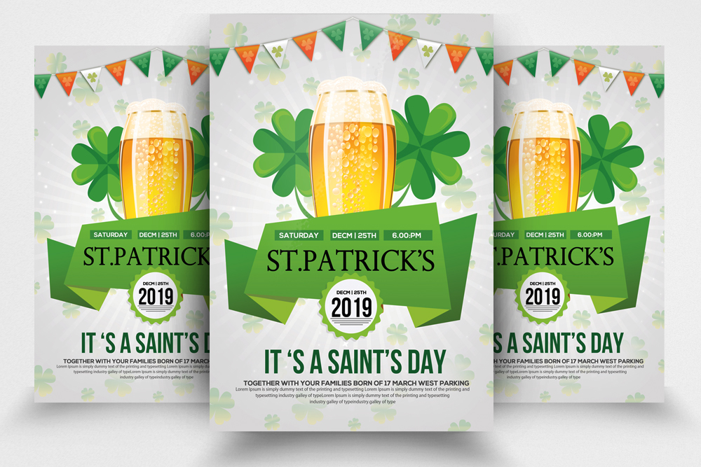 4 St. Patrick's Day Flyers Bundle example image 4