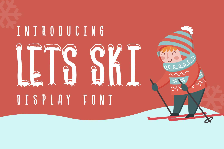 Lets Ski | Free Font Download