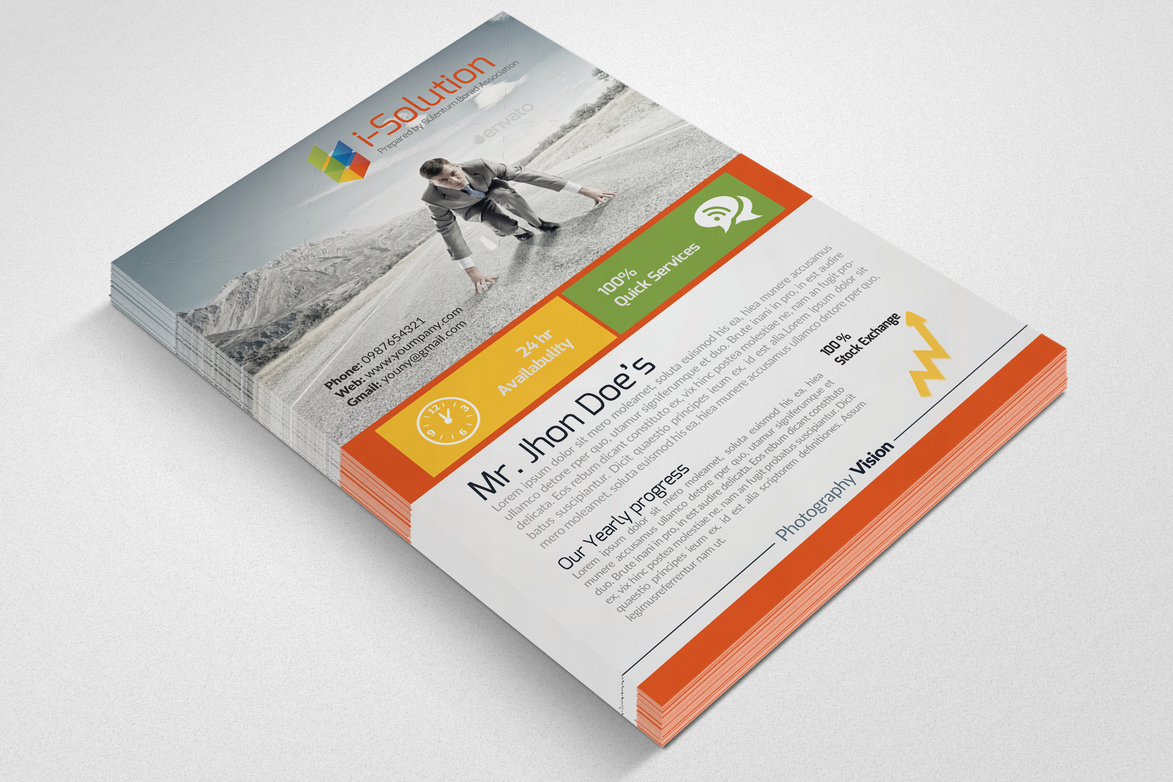 Business Innovation Flyer Template example image 3