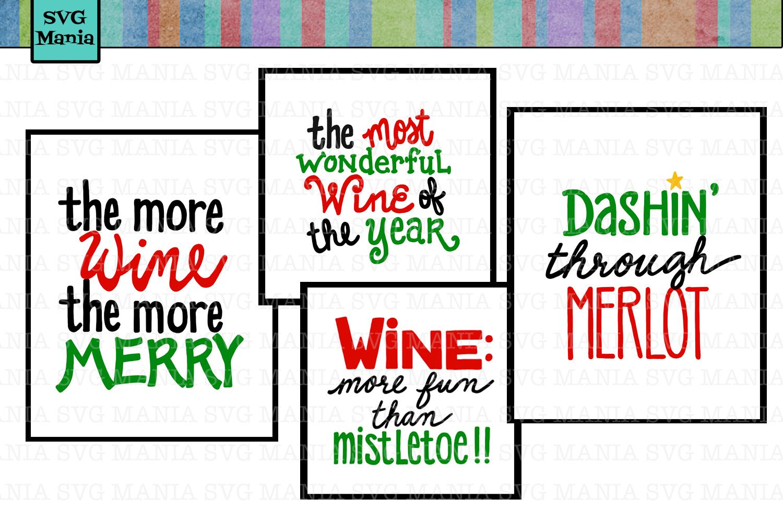 Christmas Wine Glass SVG Bundle, Funny Christmas SVG Bundle example image 1