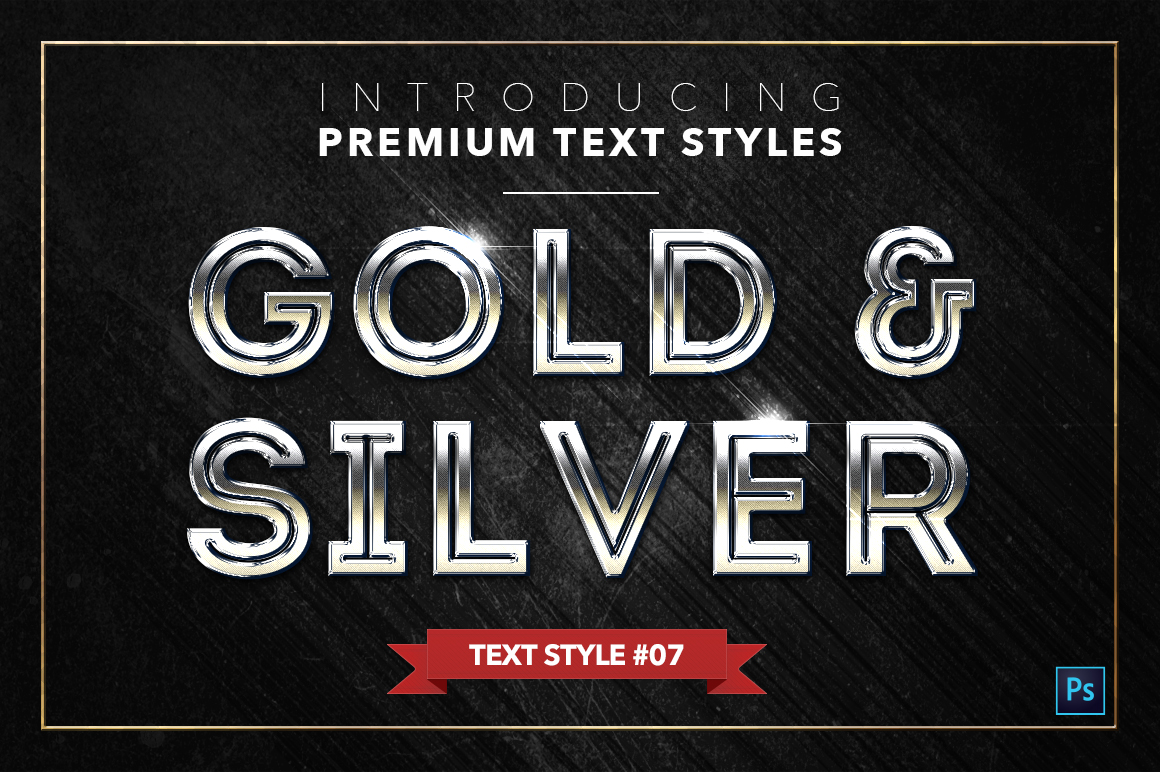 Gold & Silver #2 - 20 Text Styles example image 17