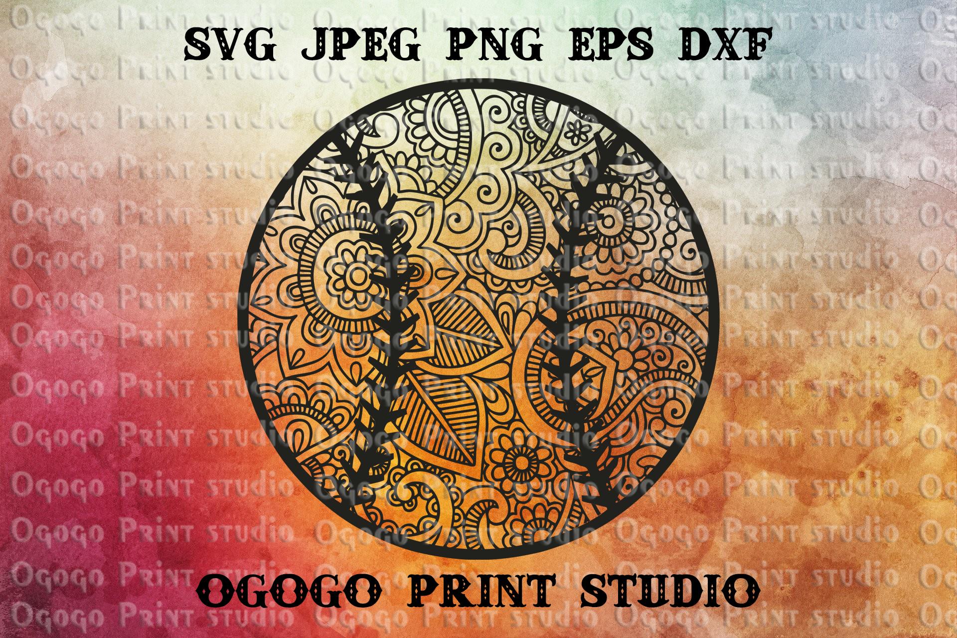 Baseball SVG, Mandala svg, Zentangle SVG, Softball svg example image 1